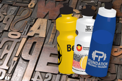 Fonts for sports drink bottles