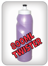 800ml Twister Water Bottles